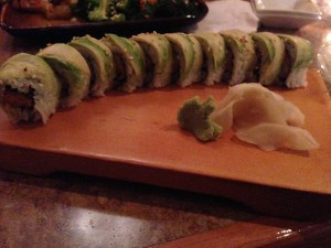 Avocado and Scallop Sushi Roll @ Cafe du Japon