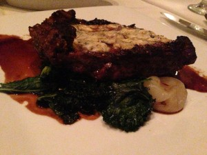 Ribeye with Blue Cheese Crumbles at Eleven South