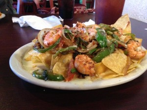 Shrimp Nachos at Cinco De Mayo