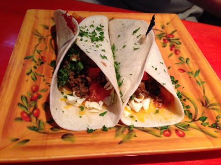 Lolas Burrito Joint Beef Soft Tacos