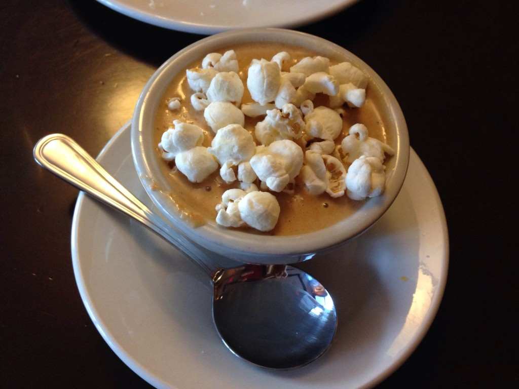 Bold City Grill Beer Cheese Soup with White Cheddar Popcorn