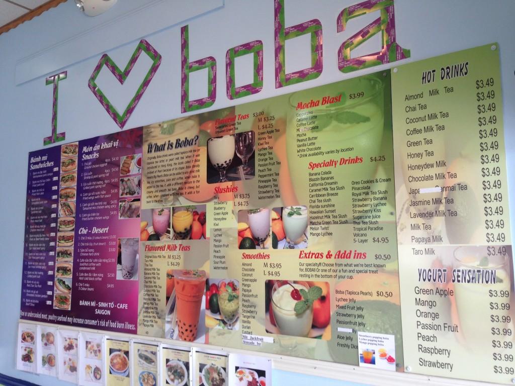 Q-Cup Boba Tea - Menu