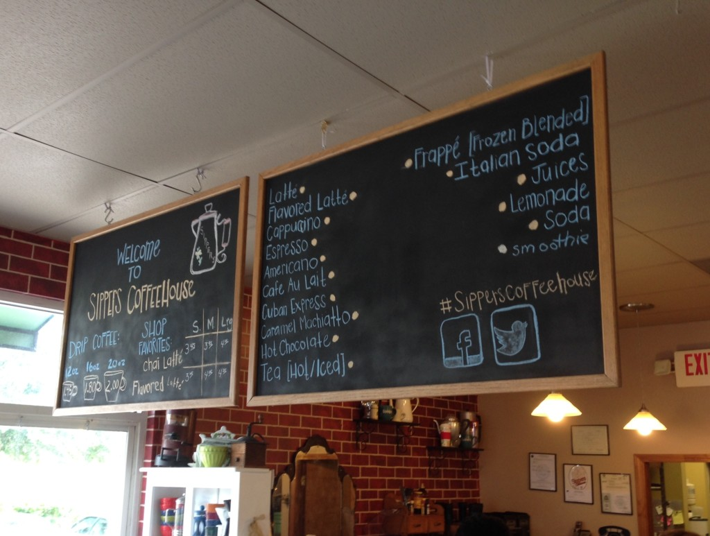 Sippers Coffeehouse - Menu