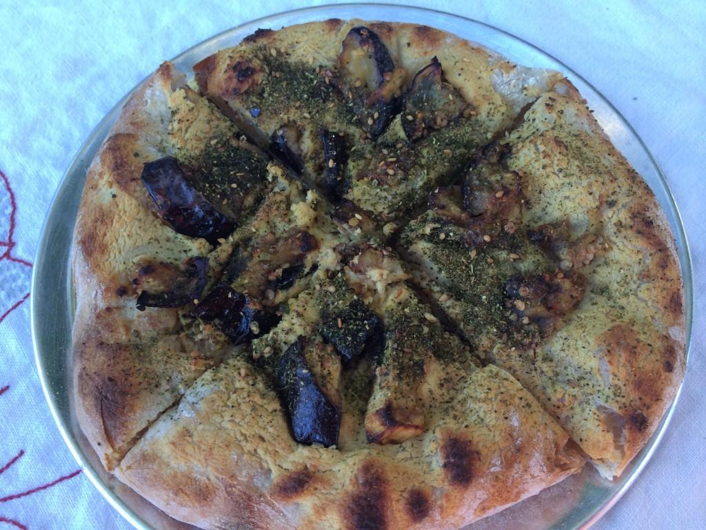 Community Loaves - Hummus Roasted Eggplant Zaata Pizza