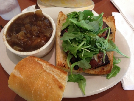 Soups On - French Onion and Portobello Mushroom Sandwich