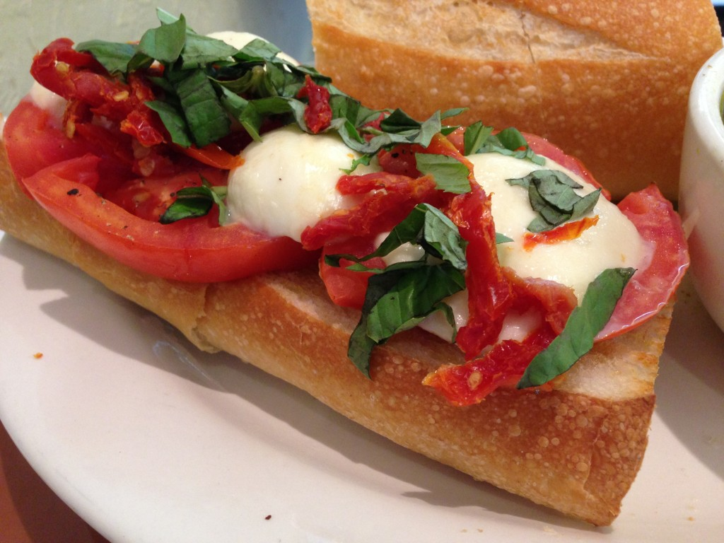 Soups On - Tomato Mozzarella Sandwich