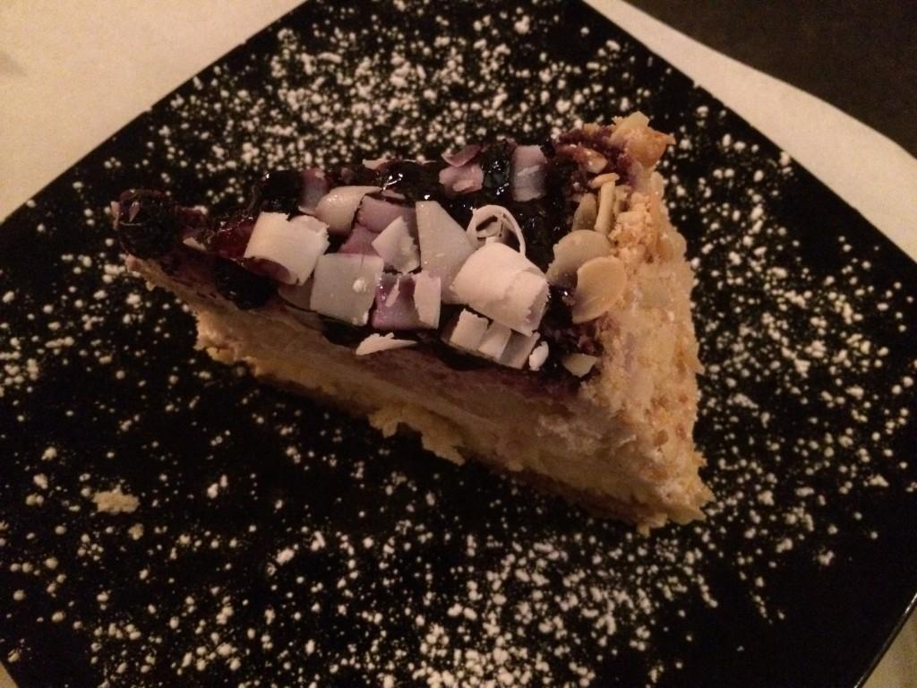 JJs Bistro de Paris - Blueberry Cheesecake