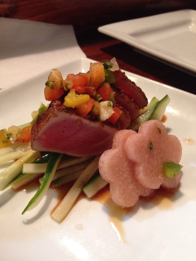 NIppers - Jerk seared tuna with pickled jicama