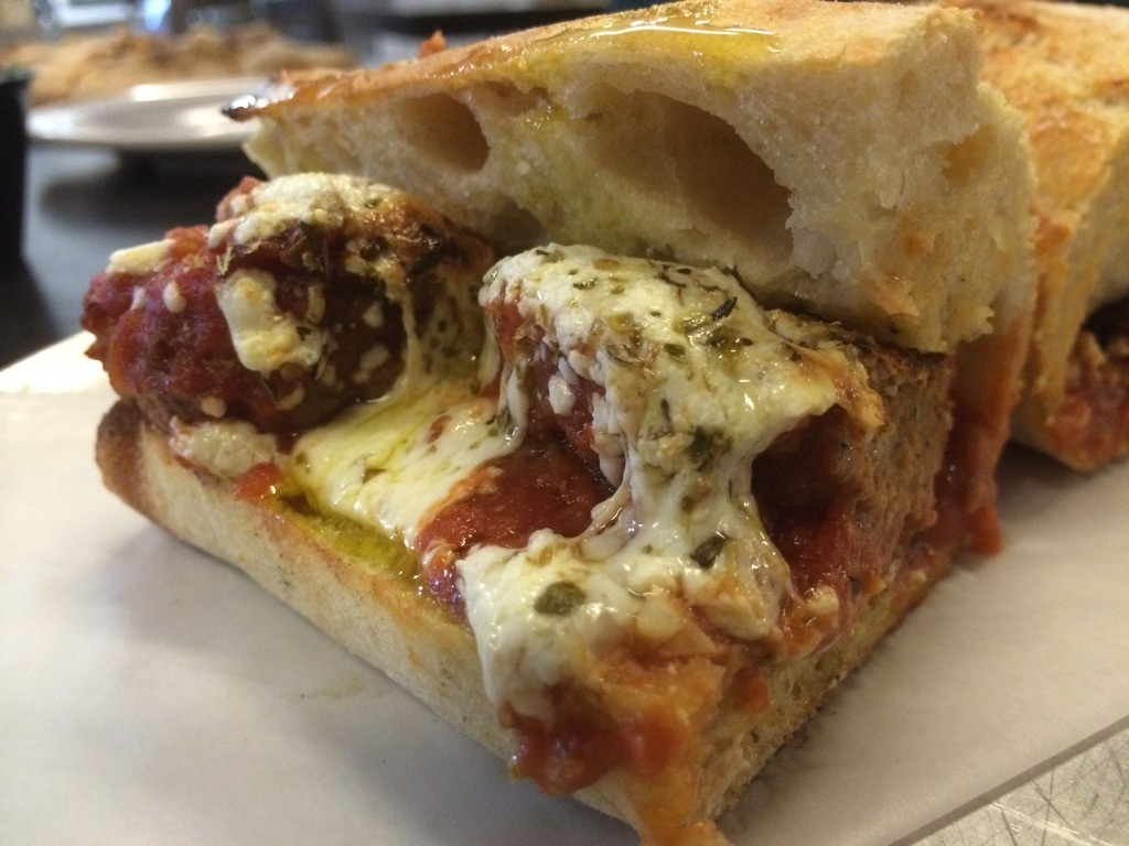 V Pizza - Meatball Sandwich