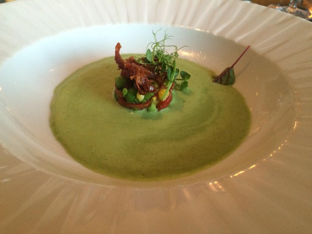Azurea - English Pea and Mint Bisque