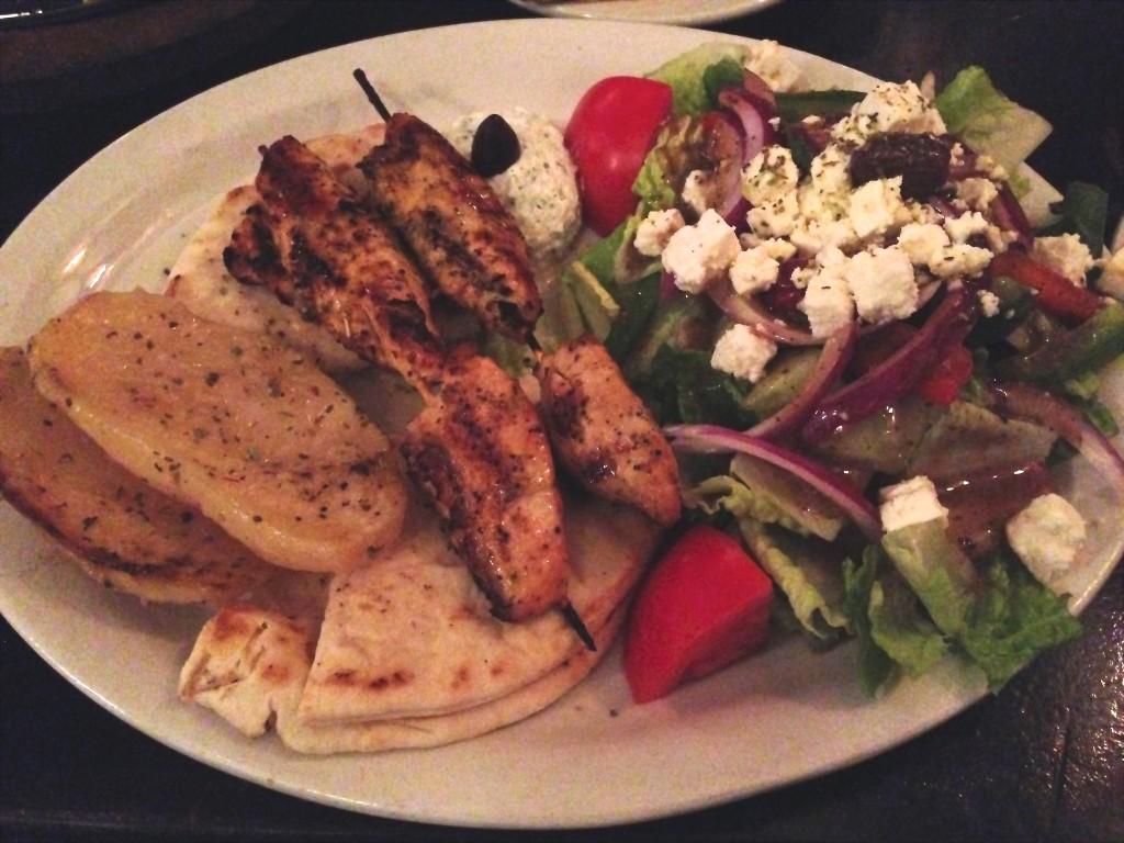 Taverna Yamas - Chicken Souvlaki Platter