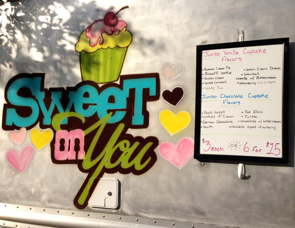 Sweet On You - Cupcake Menu