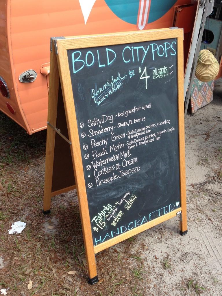 Bold City Pops - Menu