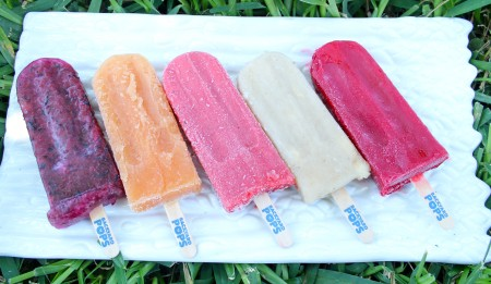 Backyard Pops Assortment - Blueberry Lemonade, Pineapple Papaya, Strawberry, PB&J and Raspberry Lime