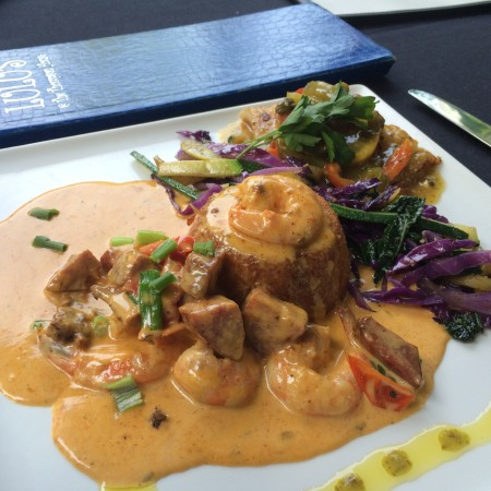 Lulu's - Shrimp and Grits and Portuguese Grouper