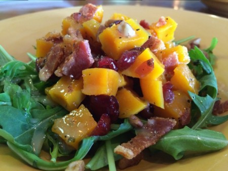 Paddys Brick Oven Pizza - Butternut Squash, Cranberry Pecan Salad with Bacon Vinaigrette