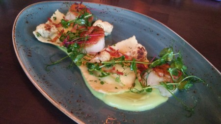 Vernon's - Scallops with Cauliflower Ravioli