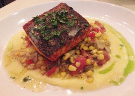 Taverna - Salmon With Succotash