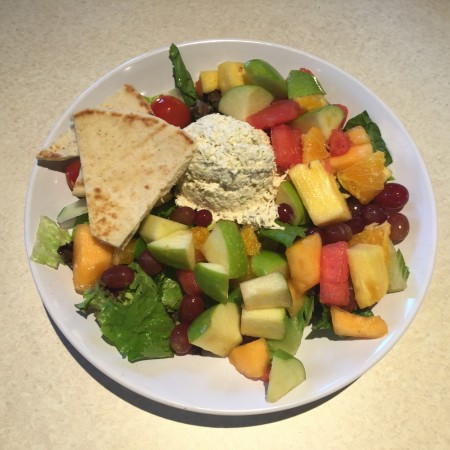 Zoës Kitchen - Chicken Salad and Fruit
