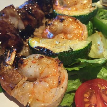 Zoës Kitchen - Shrimp and Veggies