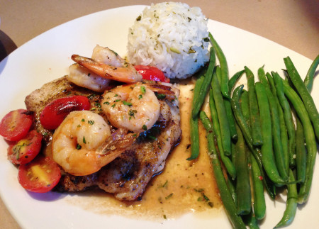 Bonefish Grill - Snapper with Shrimp