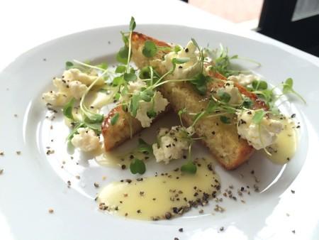 Café Nola - Ricotta Toast with Arugula