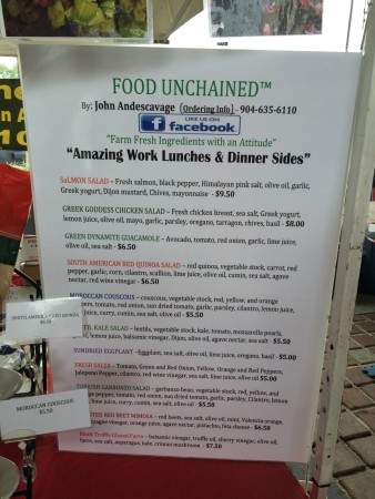 Food Unchained - Menu