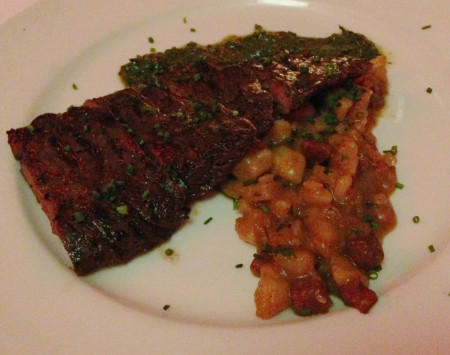 Bold City Grill Wine Dinner - Skirt Steak with Cilantro Chimichurri