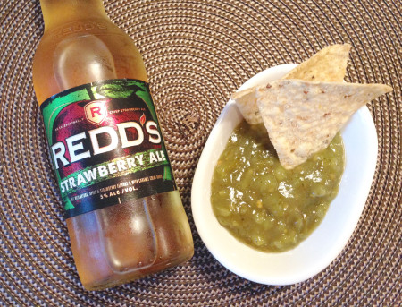 Redd's Apple Ale and Salsa