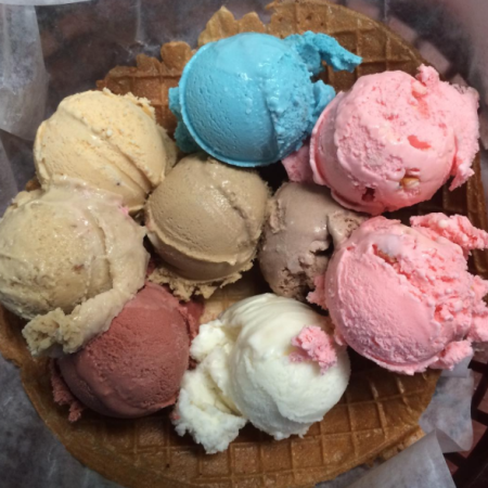 A&Js Old Fashioned Ice Cream - Ice Cream Flight