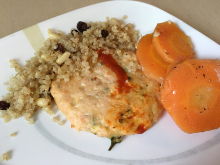 Kathy's Table - Salmon Cakes with Quinoa and Carrots