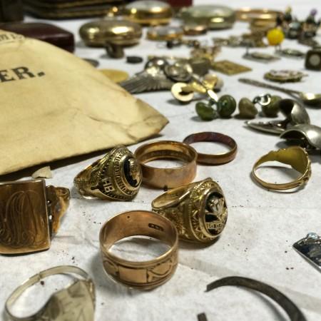 Jewelry from the Bostwick Building Lockbox