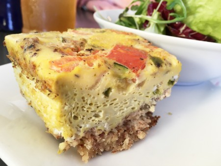 This Chick's Kitchen - Quiche with Almond Crust