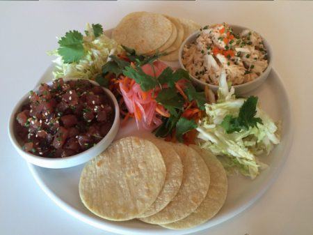 Hobnob - Ahi Tuna and Crab Tacos