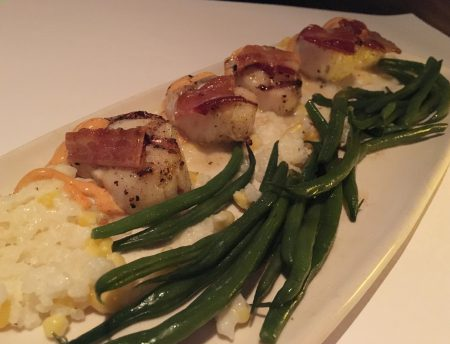 Bonefish Grill - Scallops with Corn Risotto