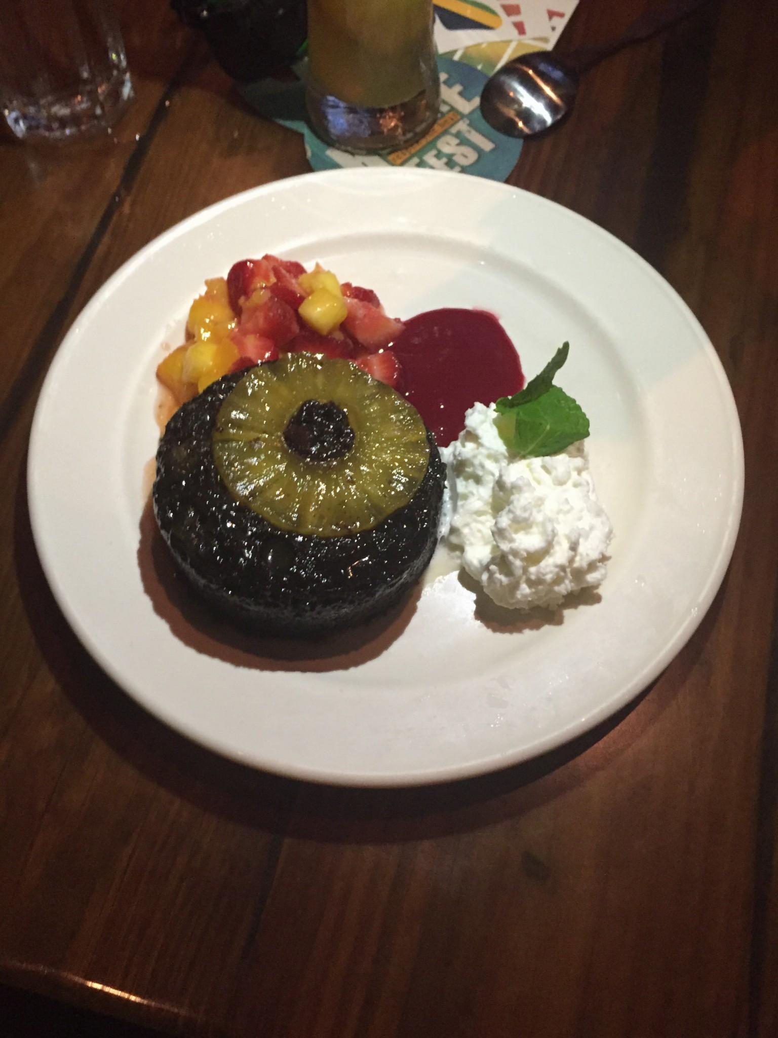 Bahama Breeze – Warm Chocolate Pineapple Upside Down Cake