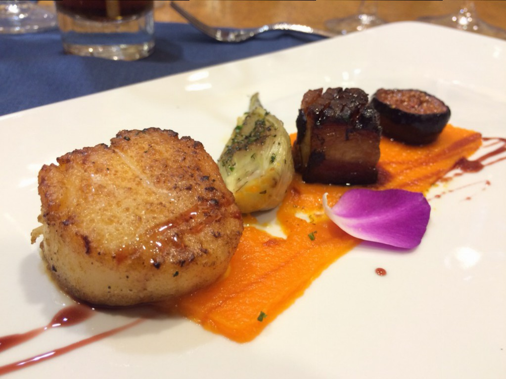 Cypress Village - Scallop and Pork Belly