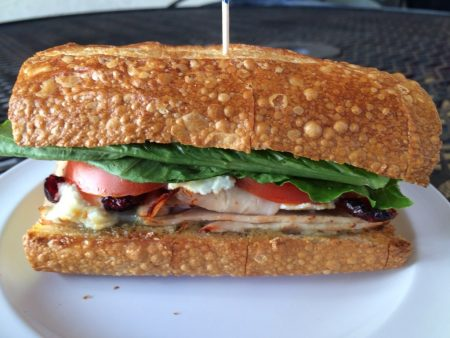 Turkey, goat cheese sandwich, Magnificat Cafe