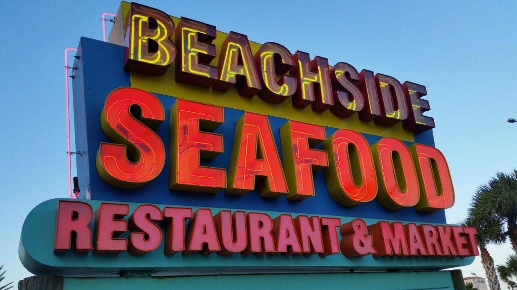 Beachside Seafood - Sign
